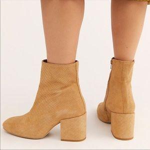 NEW free people Nicola block heel tan boots size 7